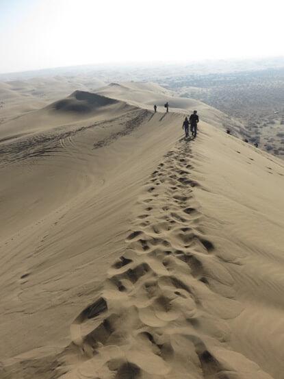 Risultati immagini per montagne di sabbia in iran
